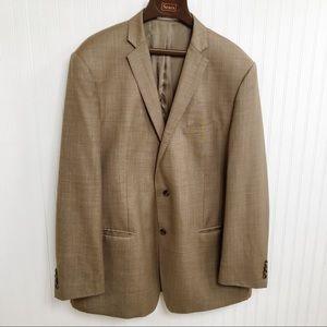 Joseph Abboud EUC 100% Wool Brown Blazer - 48L
